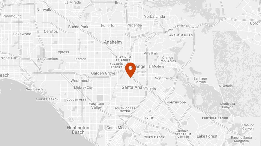 Santa Ana Office map